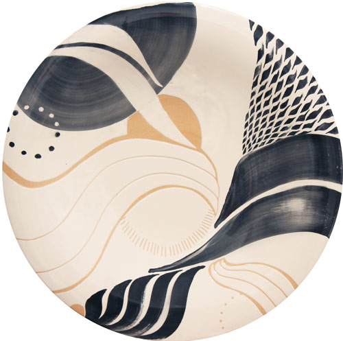Ceramic plate medium size 4